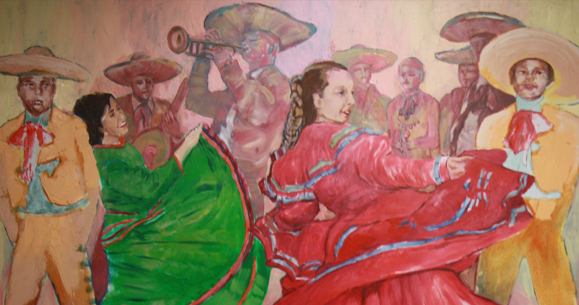 Painting of a bango band.